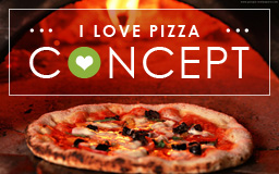 I LOVE PIZZA CONCEPT